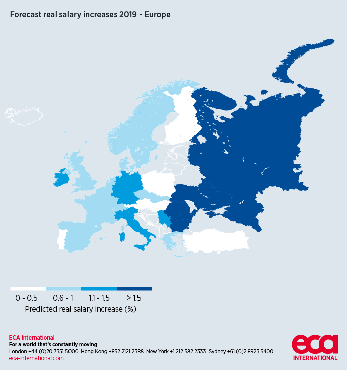 UK salaries set to rise in 2019 - ECA International