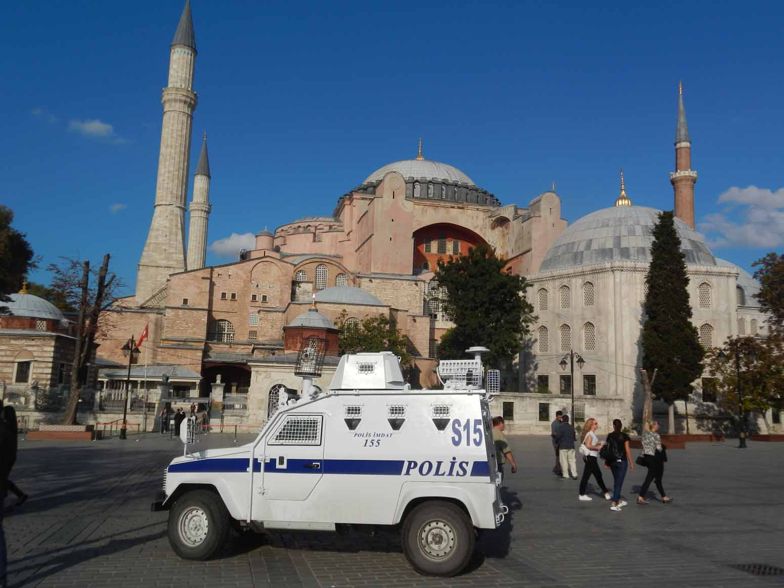 The wondrous Hagia Sophia guarded by police
