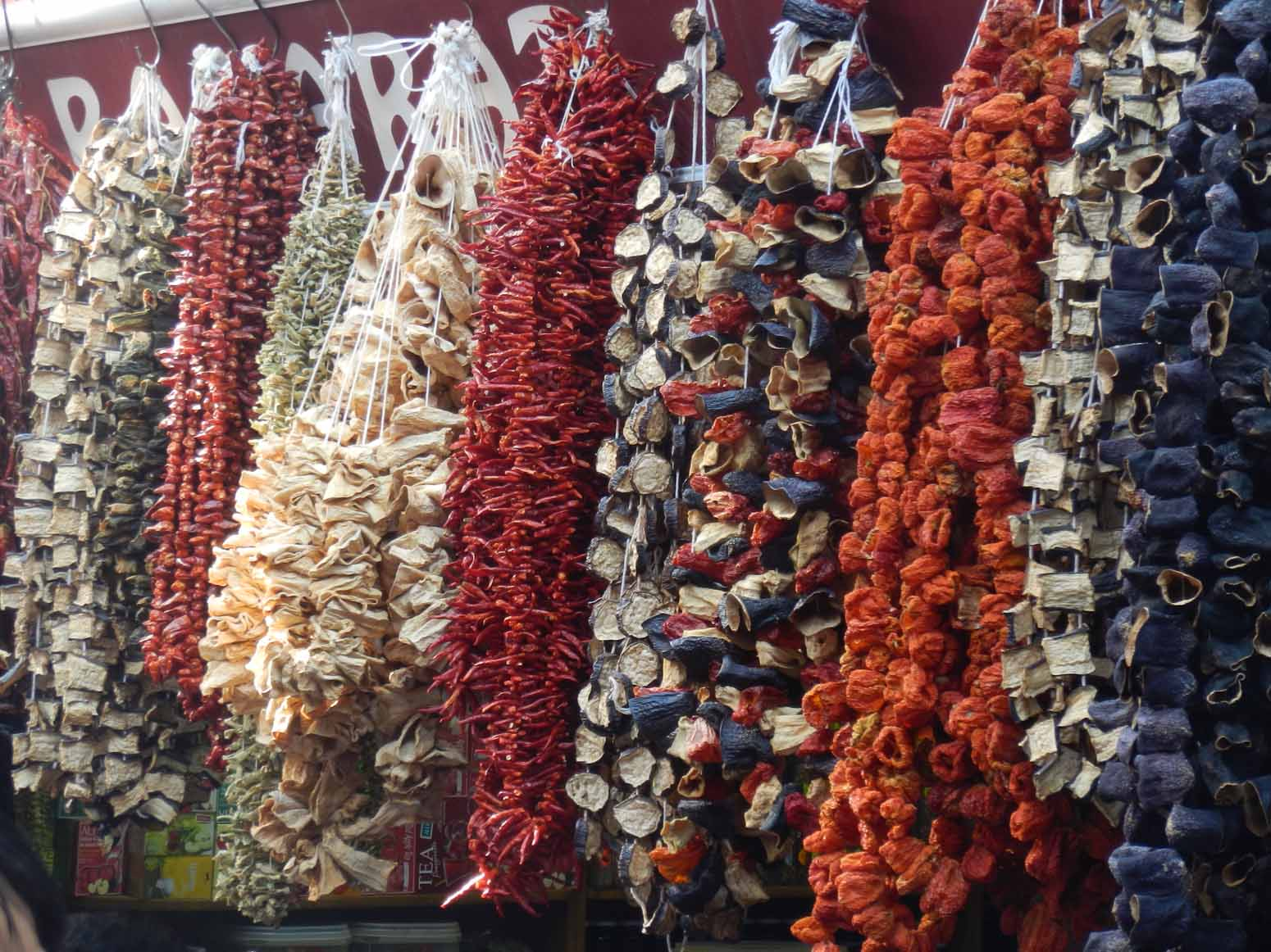 Dried fruits at the market