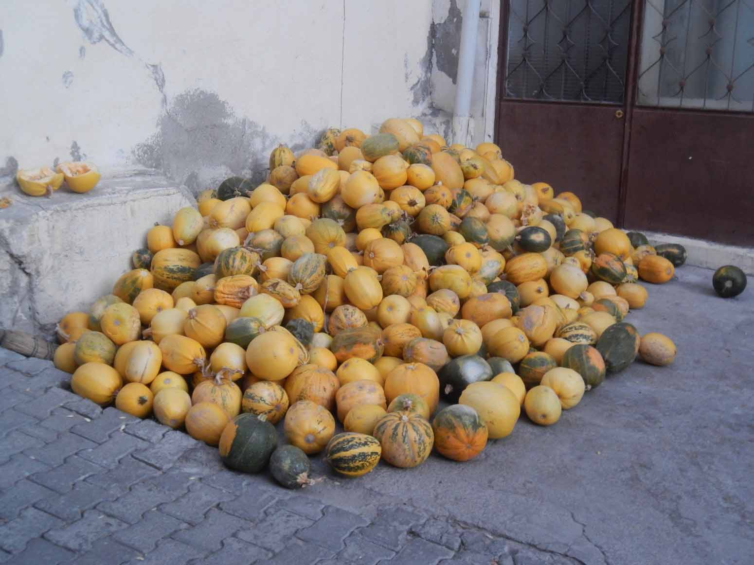 A pile of pumpkins in Goreme