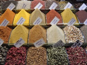 Herbs and spices in Istanbul